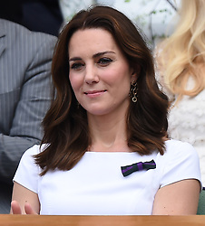 The Duke and Duchess of Cambridge visit the Wimbledon Championships and watch the Men's Final at The All England Lawn Tennis and Croquet Club, Wimbledon, in London, UK, on the 16th July 2017. 16 Jul 2017 Pictured: Catherine, Duchess of Cambridge, Kate Middleton. Photo credit: James Whatling / MEGA TheMegaAgency.com +1 888 505 6342