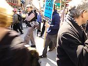 Protestors New York City No War on Iraq Protest March 22 2004