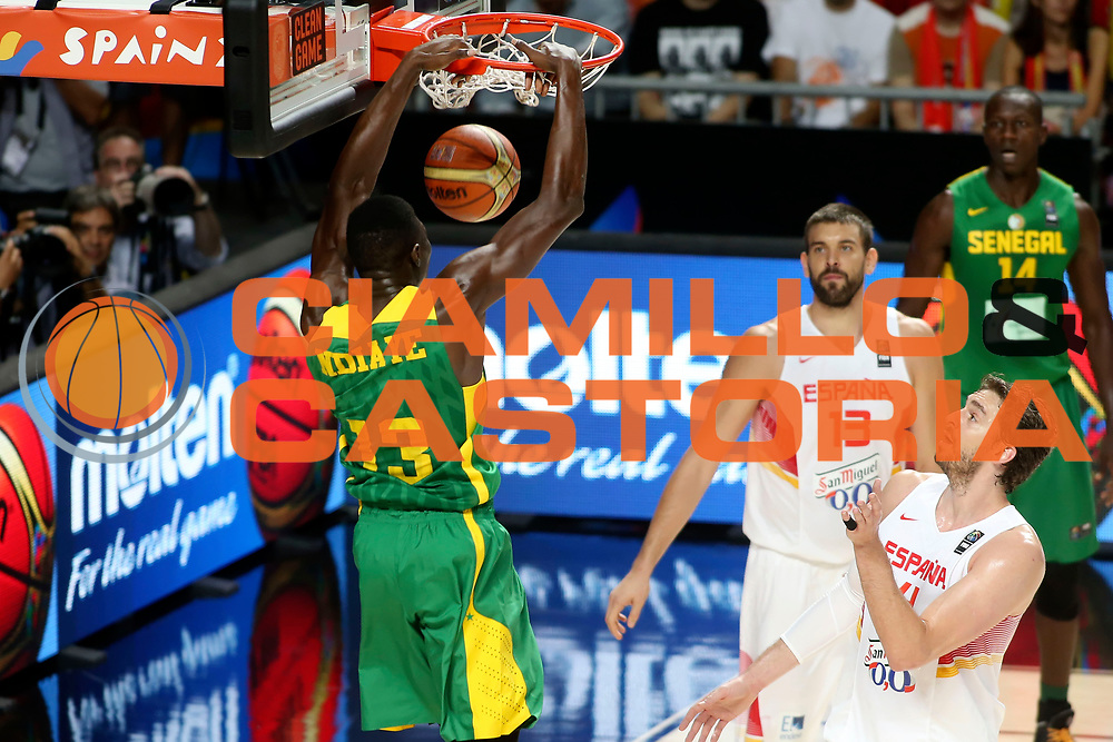 DESCRIZIONE : Madrid FIBA Basketball World Cup Spain 2014 Qualification to 1/4 Finals Spagna Senegal Spain Senegal<br /> GIOCATORE : Hamady NDIAYE<br /> CATEGORIA : <br /> SQUADRA : Senegal<br /> EVENTO : FIBA Basketball World Cup Spain 2014<br /> GARA : Spagna Senegal Spain Senegal<br /> DATA : 06/09/2014<br /> SPORT : Pallacanestro <br /> AUTORE : Agenzia Ciamillo-Castoria/ElioCastoria<br /> Galleria : FIBA Basketball World Cup Spain 2014<br /> Fotonotizia : Madrid FIBA Basketball World Cup Spain 2014 Qualification to 1/4 Finals Spagna Senegal Spain Senegal
