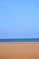 Holkham beach on a sunny September day, Norfolk UK