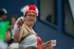 An England supporter. England v The Netherlands - Final Unibet EuroHockey Championships, Lee Valley Hockey & Tennis Centre, London, UK on 30 August 2015. Photo: Simon Parker