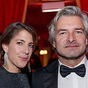 NLD/Amsterdam/20181121 - Premiere Palazzo 2018, Victor reinier en partner Aimee Kiene