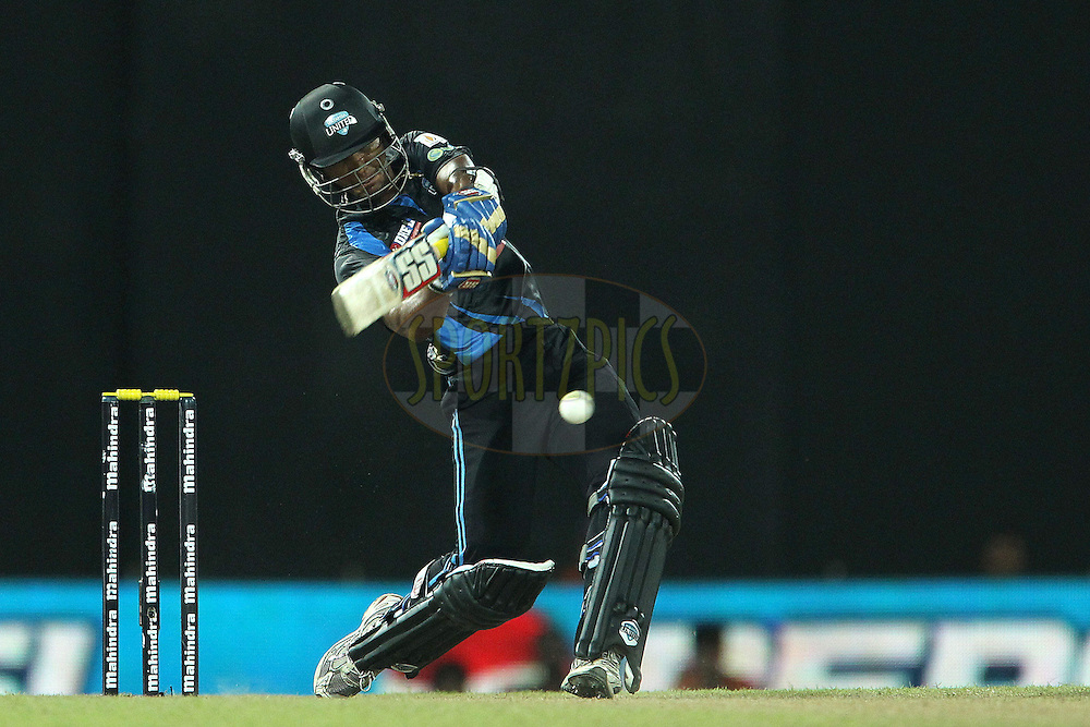 Dinesh Chandimal drives another four during match 20 of the Sri Lankan Premier League between Ruhuna Royals and Wayamba United held at the Premadasa Stadium in Colombo, Sri Lanka on the 26th August 2012. .Photo by Ron Gaunt/SPORTZPICS/SLPL
