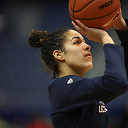 HARTFORD, CONNECTICUT- DECEMBER 19:  Kia Nurse #11 of the Connecticut Huskies warming up before the UConn Huskies Vs Ohio State Buckeyes, NCAA Women's Basketball game on December 19th, 2016 at the XL Center, Hartford, Connecticut (Photo by Tim Clayton/Corbis via Getty Images)