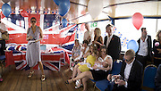 tracey emin, Marriage of Tim Nobkle and Sue Webster conducted by Tracey Emin. Queen Elizabeth. Thames. London. 7 June 2008 *** Local Caption *** -DO NOT ARCHIVE-© Copyright Photograph by Dafydd Jones. 248 Clapham Rd. London SW9 0PZ. Tel 0207 820 0771. www.dafjones.com.<br /> tracey emin, Marriage of Tim Nobkle and Sue Webster conducted by Tracey Emin. Queen Elizabeth. Thames. London. 7 June 2008