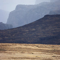 Man on horse Bale mountains Ethiopia