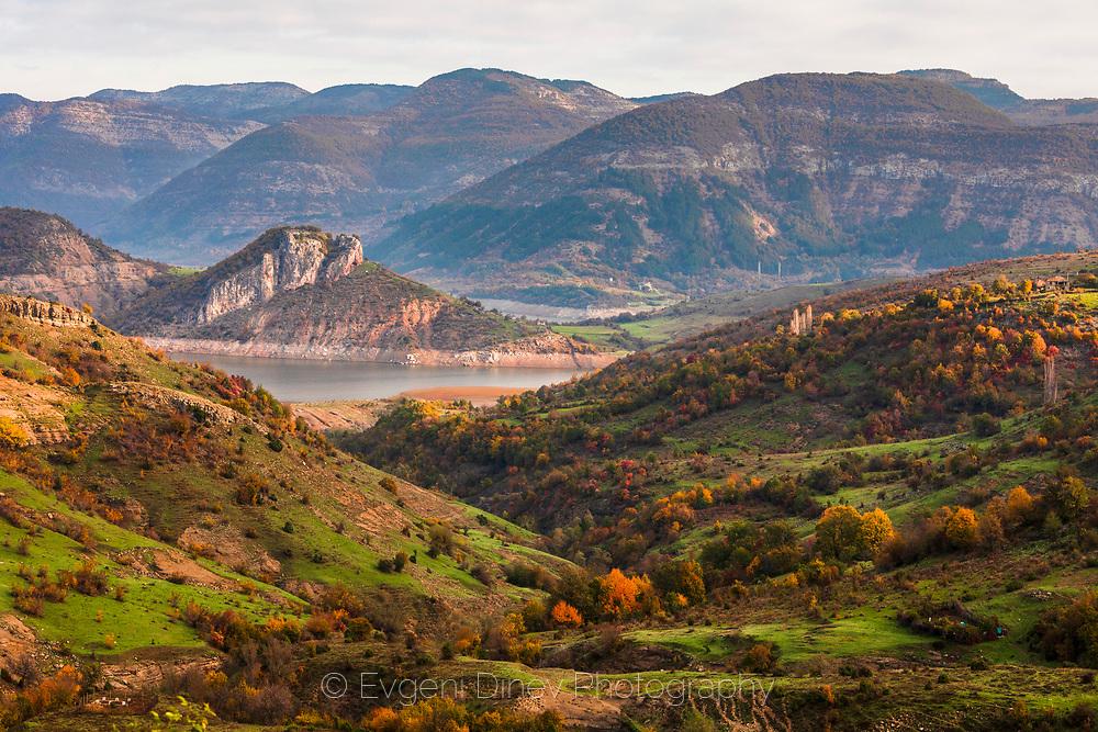 The magnificeint view to Kardzhali lake at autumn