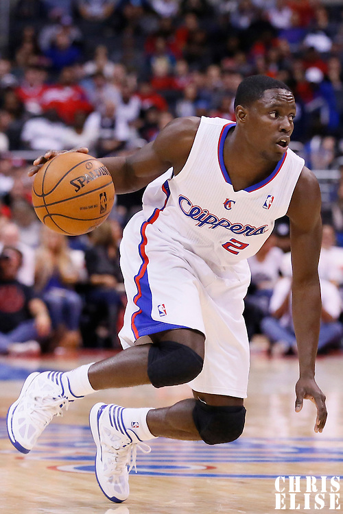 23 November 2013: Los Angeles Clippers point guard Darren Collison (2) dribbles during the Los Angeles Clippers 103-102 victory over the Sacramento Kings at the Staples Center, Los Angeles, California, USA.
