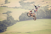 Tsunami seat-grab Indian-air at Farm Jam 2016, Southland, New Zealand, sponsored by Red Bull