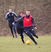 Dundee&rsquo;s Matty Hanvey and Mark O&rsquo;Hara during Dundee FC training at the Michelin Grounds, Dundee<br /> <br /> <br />  - &copy; David Young - www.davidyoungphoto.co.uk - email: davidyoungphoto@gmail.com