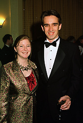 PRINCE & PRINCESS PETER FRANKOPAN, she was Jessica Sainsbury daughter of Tim Sainsbury, at a reception in London on 16th March 1998.MGB 95
