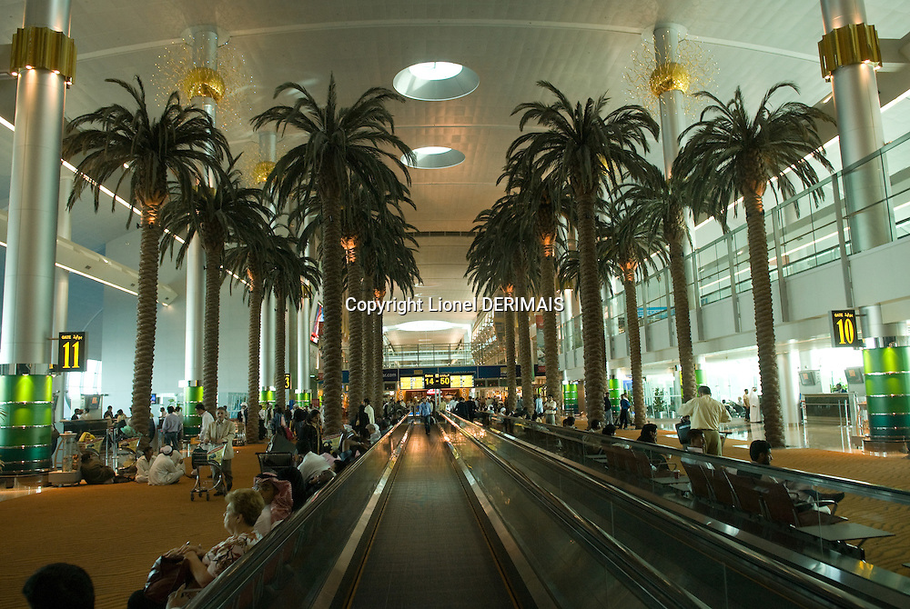 Dubai international airport. Dubai, one of the seven emirates and the most populous of the United Arab Emirates sits on the southern coast of the Persian gulf.