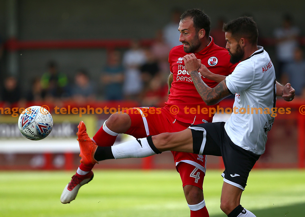 Crawley's Josh Payne in action during the pre season friendly between Crawley Town and KSV Roeselare at The Broadfield Stadium, Crawley , UK. 28 July 2018.