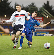 Dundee's Colin Nish and Inverness Caledonian Thistle's Josh Meekings  - Inverness Caledonian Thistle v Dundee, Clydesdale Bank Scottish Premier League at Tulloch Caledonian Stadium, Inverness.. - © David Young - www.davidyoungphoto.co.uk - email: davidyoungphoto@gmail.com