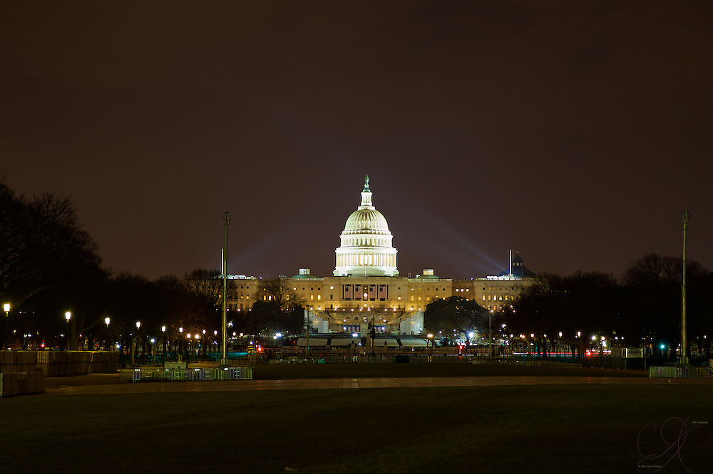 Getting dressed for the 2017 Inaugural, the U.S. Capitol always looks magnificent at night