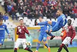 March 18, 2018 - Turin, Piedmont, Italy - German Pezzella (ACF Fiorentina) in action during the Serie A football match between Torino FC and ACF Fiorentina at Olympic Grande Torino Stadium on 18 March, 2018 in Turin, Italy. Final results: 1-2  (Credit Image: © Massimiliano Ferraro/NurPhoto via ZUMA Press)