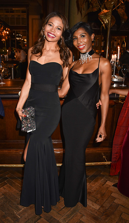 Left to right, Viscountess Weymouth and Sinitta at the Nelson Mandela Foundation Gala Dinner, Rosewood, London England. 24 April 2018.