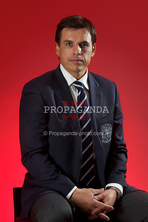 CARDIFF, WALES - Thursday, January 19, 2012: Wales' new national team manager Chris Coleman. (Pic by David Rawcliffe/Propaganda)