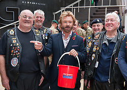 © Licensed to London News Pictures. 29/10/2015. Bristol, UK. Bristol Poppy Day. NOEL EDMONDS joins Royal British Legion Riders Branch to raise the profile of the Royal British Legion's Poppy Appeal campaign in Bristol at Cabot Circus shopping centre, in the two week countdown to Remembrance Day. Photo credit : Simon Chapman/LNP