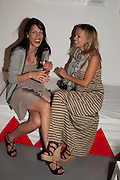 MELISSA POULOS; MARISSA HERMER, Tunnel of Love. Funfair party The Mending Broken Hearts appeal In aid of the British Heart Foundation. Victoria House, Bloomsbury. London. 17 May 2011. <br /> <br />  , -DO NOT ARCHIVE-© Copyright Photograph by Dafydd Jones. 248 Clapham Rd. London SW9 0PZ. Tel 0207 820 0771. www.dafjones.com.