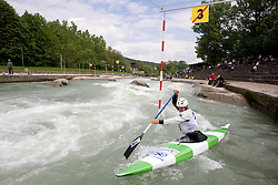Blaz Cof of KKK Tacen competes in the Men's Canoe Single C-1 at kayak & canoe slalom race on May 9, 2010 in Tacen, Ljubljana, Slovenia. (Photo by Vid Ponikvar / Sportida)