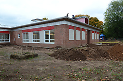 Hanover Elementary School - Kindergarten Addition<br /> James R Anderson Photographer | photog.com 203-281-0717<br /> Andrade Architects, LLC. Enfield Builders, Inc.<br /> Photography Date: 9 October 2012<br /> Camera View: East & North Elevations<br /> Image Number 07