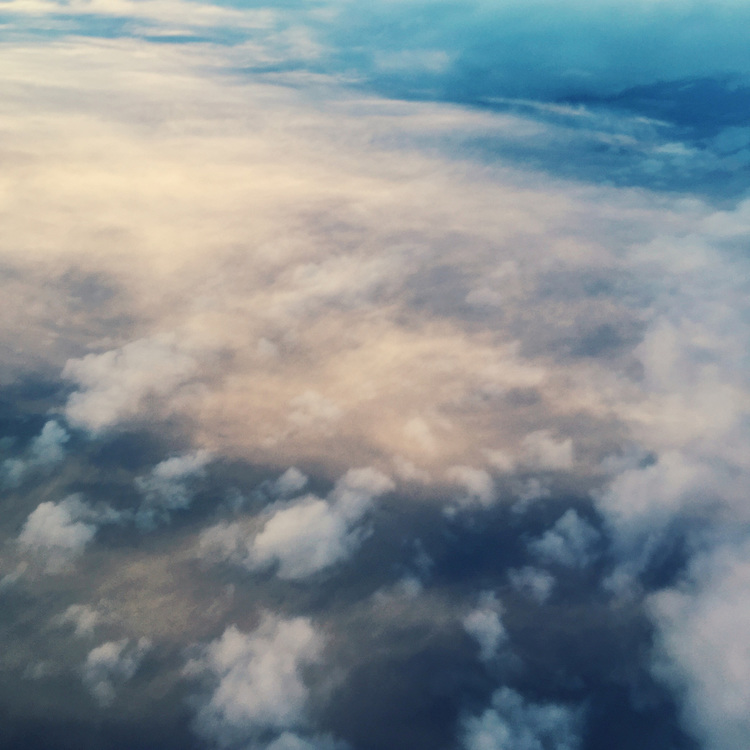 Clouds from the air. Taken with an iPhone