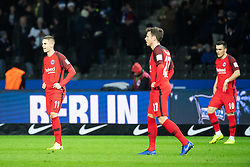 BERLIN, Dec. 9, 2018  Frankfurt's players react during a German Bundesliga between Hertha BSC and Eintracht Frankfurt, in Berlin, Germany, on Dec. 8, 2018. Frankfurt lost 0-1. (Credit Image: © Kevin Voigt/Xinhua via ZUMA Wire)