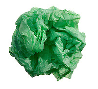 green paper wad