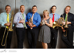 Best of Brass, photographed for Musica Viva In Schools, on Monday 23 March, 2015.   Best of Brass are Bob Schulz (trumpet, flugelhorn, piccolo trumpet), Nathan Schilling (trumpet, flugelhorn, piccolo trumpet), Armin Terzer (horn), Greg Aitken (trombone), and Warwick Tyrrell (trombone).