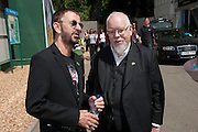 RINGO STARR; SIR PETER BLAKE, PRESS PREVIEW. The RHS Chelsea Flower Show 2011. The Royal Hospital grounds. Chelsea. London. 23 May 2011. <br /> <br />  , -DO NOT ARCHIVE-© Copyright Photograph by Dafydd Jones. 248 Clapham Rd. London SW9 0PZ. Tel 0207 820 0771. www.dafjones.com.