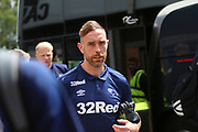 Derby County defender Richard Keogh (6) arrives at the Pirelli Stadium during the Pre-Season Friendly match between Burton Albion and Derby County at the Pirelli Stadium, Burton upon Trent, England on 20 July 2019.