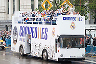 Real Madrid players celebrate winning the UEFA Champions League with an open top bus tour at Cibeles Square, Madrid<br /> Picture by EXPA Pictures/Focus Images Ltd 07814482222<br /> 29/05/2016<br /> ***UK &amp; IRELAND ONLY***<br /> EXPA-ESP-160529-0110.jpg