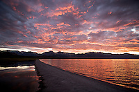 A Dappled Red Sky, Mono Lake