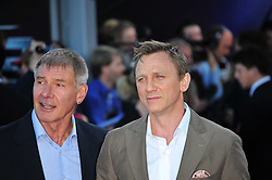 © Licensed to London News Pictures. 11/08/2011. London, England. Harrison Ford and Daniel Craig attends the U.K premiere of Cowboys and Aliens Starring Harrison Ford and Daniel Craig at the O2 Cineworld London Photo credit : ALAN ROXBOROUGH/LNP