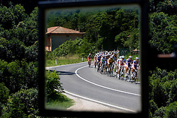 Mirror of peleton at 1st stage of Tour de Slovenie 2009 from Koper (SLO) to Villach (AUT),  229 km, on June 18 2009, in Koper, Slovenia. (Photo by Vid Ponikvar / Sportida)