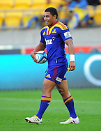 Hurricanes first fiev Lima Sopoaga walks back to take a conversion attempt after his first half try. Super 15 rugby match - Hurricanes v Highlanders at Westpac Stadium, Wellington, New Zealand on Friday, 18 February 2011. Photo: Dave Lintott/PHOTOSPORT/SPORTZPICS