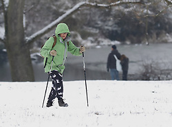 © Licensed to London News Pictures. 01/02/2019. London, UK. People out and about on Hampstead Heath, north London, after snow fell overnight. Photo credit: Rob Pinney/LNP