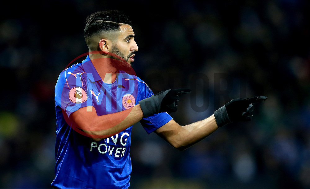 Riyad Mahrez of Leicester City points - Mandatory by-line: Robbie Stephenson/JMP - 27/02/2017 - FOOTBALL - King Power Stadium - Leicester, England - Leicester City v Liverpool - Premier League