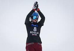 Zavarzina Alena during the woman's Snowboard giant slalom of the FIS Snowboard World Cup 2017/18 in Rogla, Slovenia, on January 21, 2018. Photo by Urban Meglic / Sportida