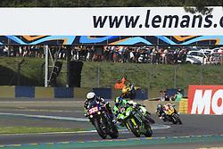 April 21, 2018 - Le Mans, SARTHE (72, FRANCE - 33 TEAM 33 ACCESSOIRES  LOUIT MOTO (FRA) KAWASAKI ZX 10R SUPERSTOCK PEROLARI CORENTIN (FRA) MANFREDI KEVIN (ITA) LEESCH CHRIS (LUX) HARDT JONATHAN  (Credit Image: © Panoramic via ZUMA Press)