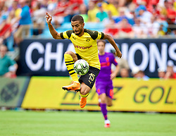 CHARLOTTE, USA - Sunday, July 22, 2018: Borussia Dortmund's Jeremy Toljan during a preseason International Champions Cup match between Borussia Dortmund and Liverpool FC at the  Bank of America Stadium. (Pic by David Rawcliffe/Propaganda)
