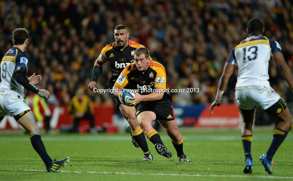 Chiefs prop Toby Smith in action. Super Rugby Final. Chiefs v Brumbies. Waikato Stadium, Hamilton, New Zealand on Saturday 3 August 2013. Photo: Andrew Cornaga/www.Photosport.co.nz