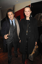 LUCA DEL BONO and MARIA BAIBAKOVA at a party to celebrate the Russian New Year in association with Stolichnaya vodka held at Harvey Nichols, London on 14th January 2008.<br /> <br /> NON EXCLUSIVE - WORLD RIGHTS