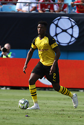 July 22, 2018 - Charlotte, NC, U.S. - CHARLOTTE, NC - JULY 22: Dan-Axel Zagadou (2) od Borussia Dortmund with the ball during the International Champions Cup soccer match between Liverpool FC and Borussia Dortmund in Charlotte, N.C. on July 22, 2018. (Photo by John Byrum/Icon Sportswire) (Credit Image: © John Byrum/Icon SMI via ZUMA Press)