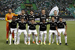 September 20, 2018 - Lisbon, Portugal - Qarabagh's team lineup during Europa League 2018/19 match between Sporting CP vs Qarabagh FK, in Lisbon, on September 20, 2018. (Credit Image: © Carlos Palma/NurPhoto/ZUMA Press)