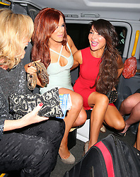 Former TOWIE star Maria Fowler and Lizzie Cundy leaving the Mayfair Hotel in London, UK. 29/11/2012<br />BYLINE MUST READ : JAMESY/GOTCHA IMAGES<br /><br />Copyright by © Gotcha Images Ltd. All rights reserved.<br />Usage of this image is conditional upon the acceptance <br />of Gotcha Images Ltd, terms and conditions available at<br />www.gotchaimages.com