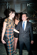 DOMINIC COOPER; DAISY LOWE, Donatella Versace celebrates the launch of the CSM 20:20 Fund, at the Connaught Hotel, Mayfair, London, 11th November, 2010. -DO NOT ARCHIVE-© Copyright Photograph by Dafydd Jones. 248 Clapham Rd. London SW9 0PZ. Tel 0207 820 0771. www.dafjones.com.