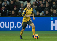 Football - 2016 / 2017 Premier League - West Ham United vs. Arsenal <br /> <br /> Shkodran Mustafi of Arsenal at The London Stadium.<br /> <br /> COLORSPORT/DANIEL BEARHAM