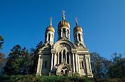 Deutschland Germany Hessen.Hessen, Wiesbaden.Russische Kirche auf dem Neroberg., Russian church on Nero Hill...